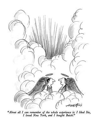 Angels Drawing - About All I Can Remember Of The Whole Experience by Henry Martin