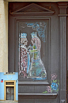 Karluv Most Digital Art - About Love. The Door. Next To Charles Bridge. Prague. Czech Republic. by Andy Za