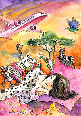 Zebra Drawing - About Women And Girls 14 by Miki De Goodaboom