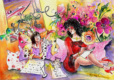 Painting - About Women And Girls 16 by Miki De Goodaboom