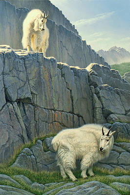 Mountain Goat Painting - Above And Beyond by Paul Krapf