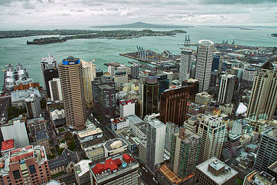 Photograph - Above Auckland - New Zealand by Stuart Litoff