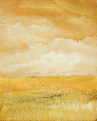 Above Painting - Above Golden Plains II by Lanie Loreth