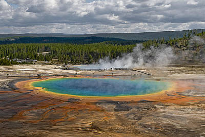 Photograph - Above Grand Prismatic by Wes and Dotty Weber