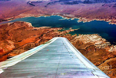 Photograph - Above Lake Mead By Diana Sainz by Diana Raquel Sainz