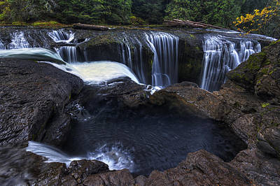 Autumn Photograph - Above Lower Lewis Falls 2 by Mark Kiver