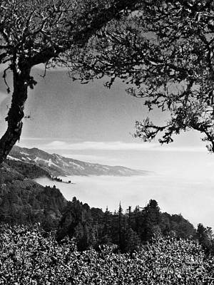 Above Nepenthe In Big Sur Art Print by Joseph J Stevens