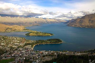 Above Queenstown Art Print by Stuart Litoff