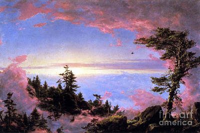 Above The Clouds At Sunrise By Frederick Edwin Church Art Print