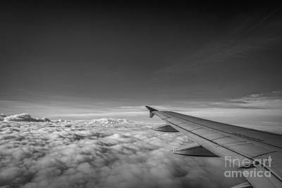 Above The Clouds Bw Art Print by Michael Ver Sprill