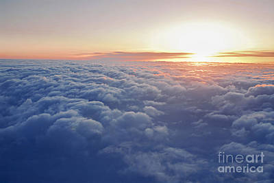 Cloud Photograph - Above The Clouds by Elena Elisseeva