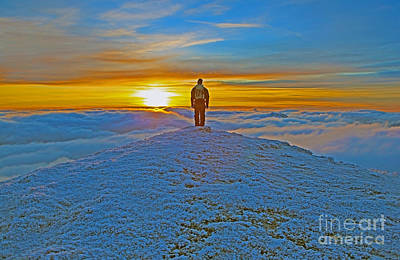 Above The Clouds Art Print by Lynne Sutherland