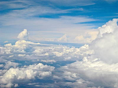 Photograph - Above The Clouds Over Texas Image B by Byron Varvarigos