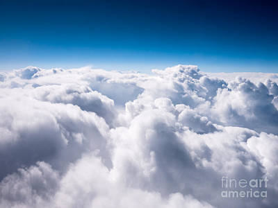 Aerial Photograph - Above The Clouds by Paul Velgos