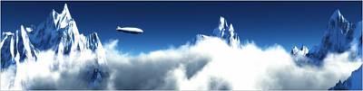 Art Print featuring the digital art Above The Clouds... by Tim Fillingim
