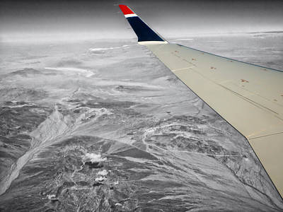 Airoplane Photograph - Above The Clouds Wing Tip View Sc by Thomas Woolworth