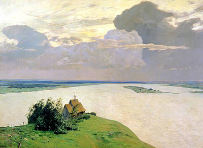 Russian Orthodox Church Painting - Above The Eternal Peace by Isaak Ilyich Levitan