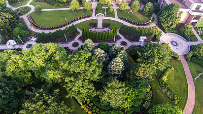 Photograph - Above The Garden At Michigan State University by John McGraw