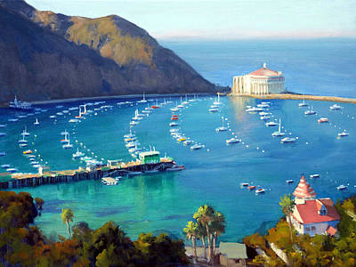 Catalina Island Painting - Above The Harbor by Armand Cabrera