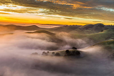 Outdoor Graphic Tees - Above the Hills at Sunrise by Marc Crumpler