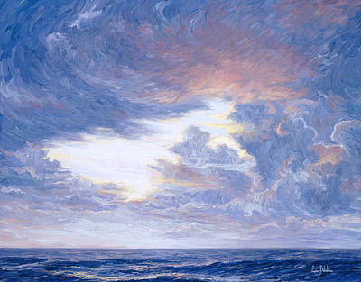 Space Clouds Painting - Above The Horizon by Lucie Bilodeau