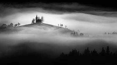 Chapel Photograph - Above The Mist by Sandi Bertoncelj