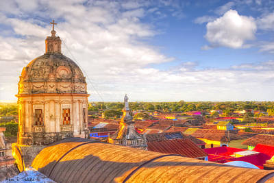 Photograph - Above The Roofs Of Granada - Nicaragua by Mark E Tisdale
