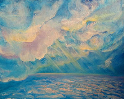 Painting - Above The Sun Splashed Clouds by Anne Cameron Cutri
