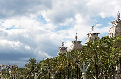 Photograph - Above The Trees Of Parc De La Ciutadella by Lorraine Devon Wilke