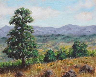 Painting - Above The Valley  by Alan Mager
