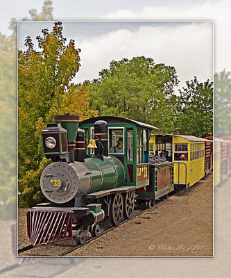 Photograph - Abq Biopark Train by Walter Herrit