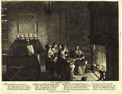 Abraham Bosse, French 1602-1676, The Wise Virgins Art Print