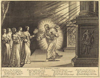 Wise Virgin Drawing - Abraham Bosse French, 1602 - 1676, The Wise Virgins by Quint Lox