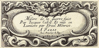 1636 Drawing - Abraham Bosse French, 1602 - 1676, Title Page For Callots by Quint Lox