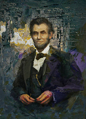 Painting - Abraham Lincoln 01 by Corporate Art Task Force