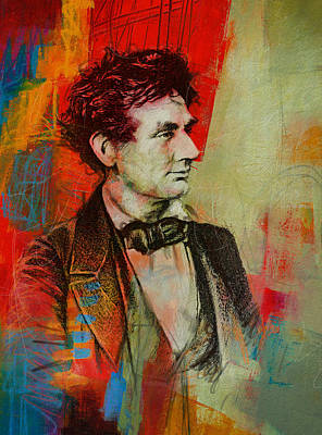 Painting - Abraham Lincoln 04 by Corporate Art Task Force