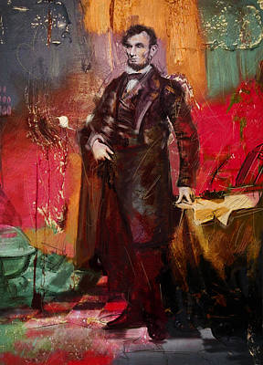 Painting - Abraham Lincoln 05 by Corporate Art Task Force