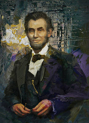 Painting - Abraham Lincoln 07 by Corporate Art Task Force