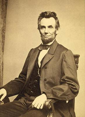 President Lincoln Digital Art - Abraham Lincoln 16th President by Georgia Fowler