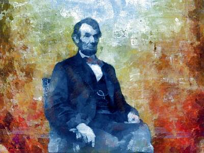 Painting - Abraham Lincoln 16th President Of The U.s.a. by Tyler Robbins