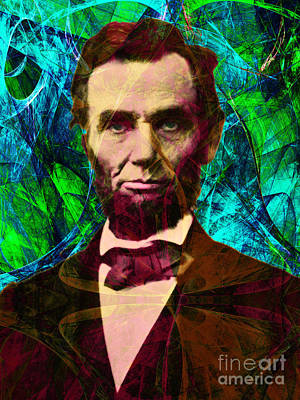 Abraham Lincoln 2014020502p145 Art Print by Wingsdomain Art and Photography