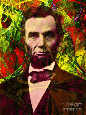 Abraham Lincoln 2014020502p28 Art Print by Wingsdomain Art and Photography