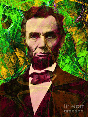 Abraham Lincoln 2014020502p68 Art Print by Wingsdomain Art and Photography