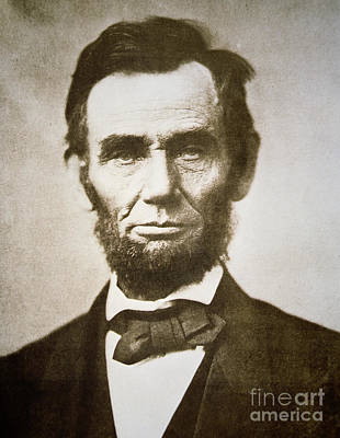 Men Photograph - Abraham Lincoln by Alexander Gardner