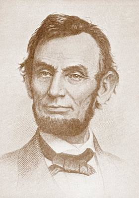 Lincoln Portrait Drawing - Abraham Lincoln by American School