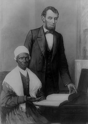 Abraham Lincoln And Sojourner Truth Art Print