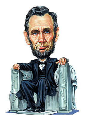 Politicians Paintings - Abraham Lincoln by Art