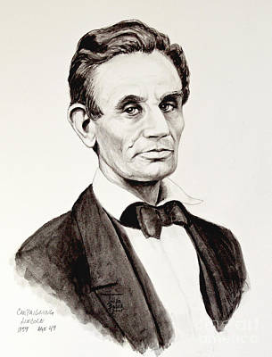 Painting - Abraham Lincoln At 49 by Art By - Ti   Tolpo Bader