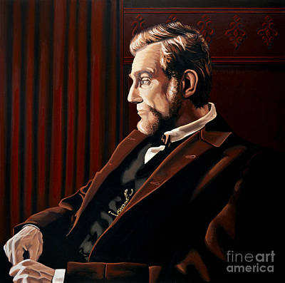 Painting - Abraham Lincoln By Daniel Day-lewis by Paul Meijering