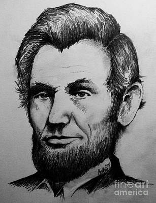 Abolition Drawing - Abraham Lincoln by Catherine Howley